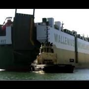 Самый большой перевозчик автомобилей судно Фауст