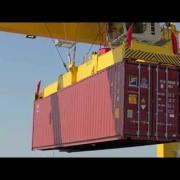 Liebherr - Rubber Tyre Ganry Cranes working at Dublin Port, Ireland